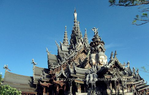sanctuary of truth, destinasi wisata pattaya